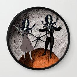 Orange Alien Nation Wall Clock