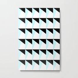 Trichromatic Geometrical Pattern Metal Print