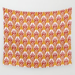 SCORCH pattern [WHITE] Wall Tapestry