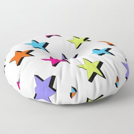 Pop Star - White background - Pattern Floor Pillow