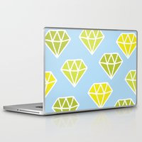 diamonds Laptop & iPad Skins featuring Diamonds by evannave