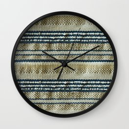 Handmade weaving background Wall Clock