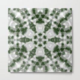 Green and White Kaleidoscope 2 Metal Print