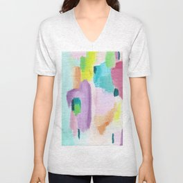 Abstract in Pastel Unisex V-Neck