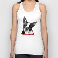 boston terrier Tank Tops featuring Boston Terrier by Gooberella