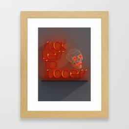 Suck less to Succes Framed Art Print