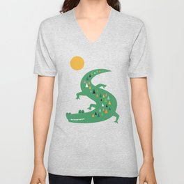 Sunbathing Unisex V-Neck