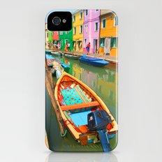 burano, italy - boat Slim Case iPhone (4, 4s)