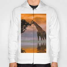 Giraffe at Sunset Hoody