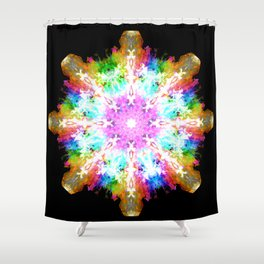 splash flake Shower Curtain