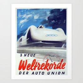 Vintage Der Auto Union Poster Art Print