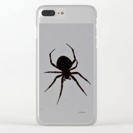 Orb Weaver Silhouette Clear iPhone Case