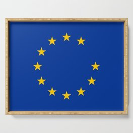 Anti brexit flag Serving Tray