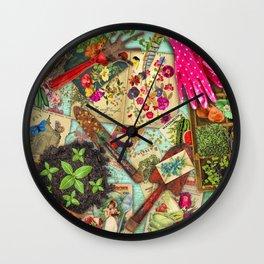 A Vintage Garden Wall Clock