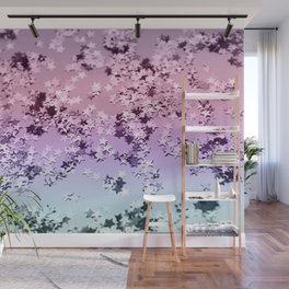 Unicorn Girls Glitter Stars #1 #shiny #pastel #decor #art #society6 Wall Mural