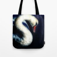 grace Tote Bags featuring Grace by Spoken in Red