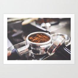 Freshly Ground Coffee Art Print