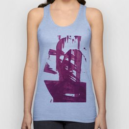 Cranberry brushstroke [1]: a bold, simple, abstract piece in purple Unisex Tank Top