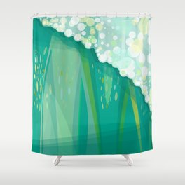 POSEIDON'S WALL Shower Curtain