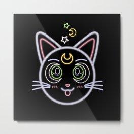 Neon Artemis Metal Print