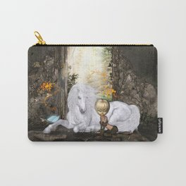 Beautiful unicorn with little fairy Carry-All Pouch