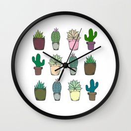 Succulents Wall Clock
