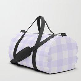 Gingham Pattern - Lilac Duffle Bag