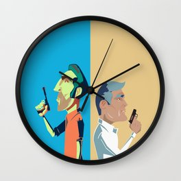 Two is a crowd Wall Clock