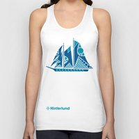 sailboat Tank Tops featuring Sailboat by Hinterlund