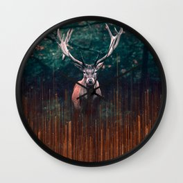 The Deer and the Lights Wall Clock