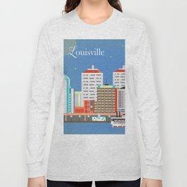 Louisville, Kentucky - Skyline Illustration by Loose Petals Long Sleeve T-shirt