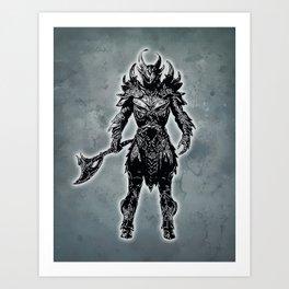 Daedric Warrior Art Print