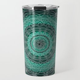 Enjoying on Black Background Travel Mug