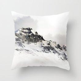 Snowin the mountains Throw Pillow