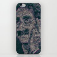 marx iPhone & iPod Skins featuring Groucho Marx - Duck Soup Screenplay Print by Robotic Ewe