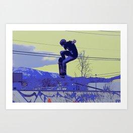 Getting Air - Skateboarder Art Print