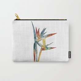 Multicoloured Botanical art - Bird of Paradise #2 Carry-All Pouch