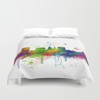 baltimore Duvet Covers featuring Baltimore Skyline by Marlene Watson