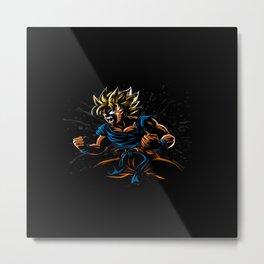power goku Metal Print