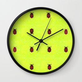 Ladybird March Wall Clock