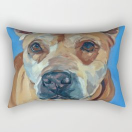 Happy the Bully Dog Portrait Rectangular Pillow