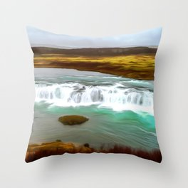 Iceland art Two Throw Pillow