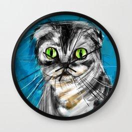 Scottish Fold Cat Wall Clock