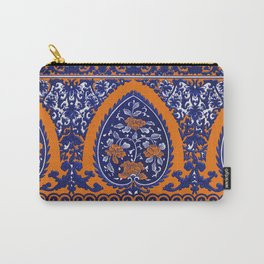 HOMEMADE BLUE ORANGE PATTERN Carry-All Pouch