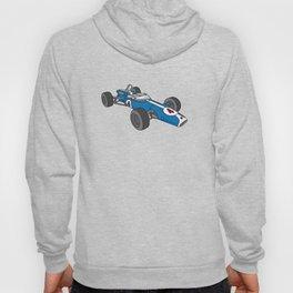 Blue vintage racing car / racecar Hoody