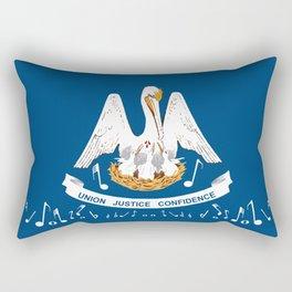 Musical Louisiana State Flag Rectangular Pillow