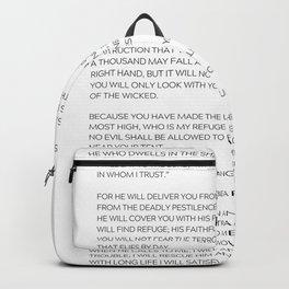 Psalm 91 #minimalism 1 Backpack