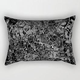 Jakarta Black Map Rectangular Pillow