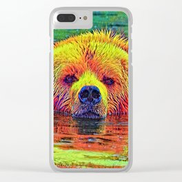 AnimalColor_Bear_003_by_JAMColors Clear iPhone Case
