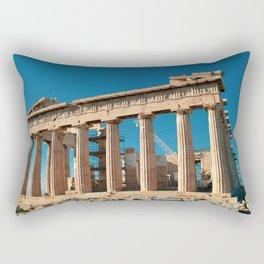 Parthenon, Acropolis of Athens, Greek photography, ancient Greece Rectangular Pillow